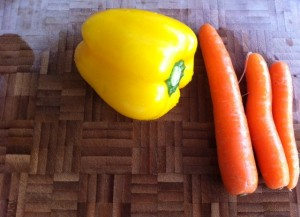 vegetables in colours
