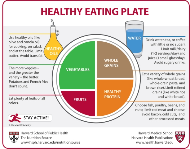 harvard eating plate