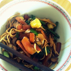Asian style anti-flu noodles Ana's Bananas Blog
