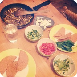 Tasty tacos with veggies, feta and minced beef recipe Ana's Bananas Blog