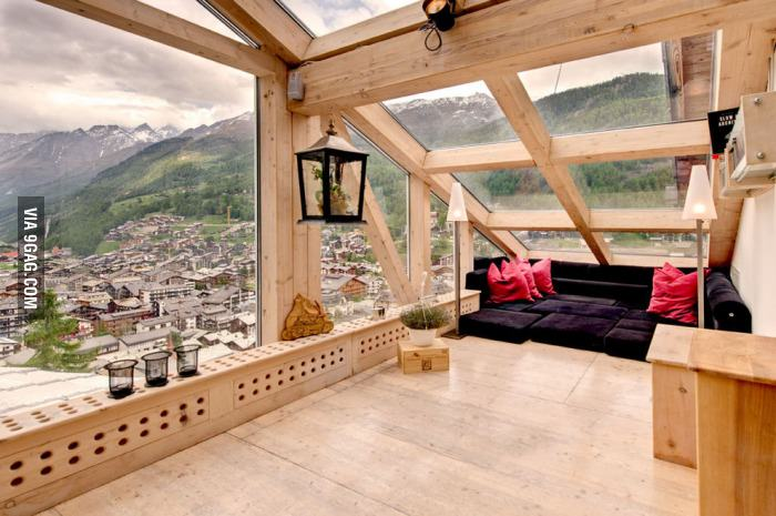 Sometimes a cozy space and a good view are all you need!