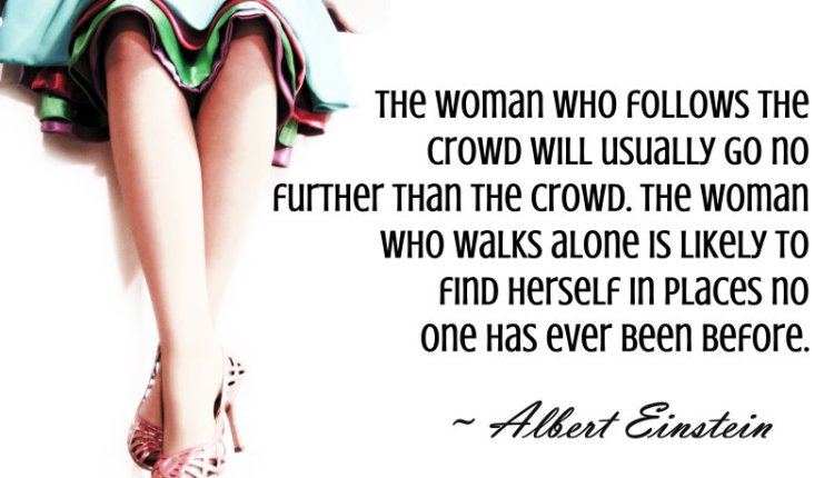Albert-Einstein-WOMEN Quote