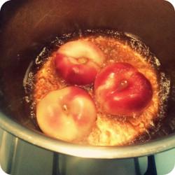 Drunk Peaches Dessert Recipe Ana's Bananas Blog