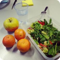 Green salad with spinach and avocado Ana's Bananas Blog
