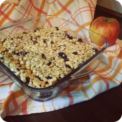 Apple berry crumble with oatmeal healthy dessert recipe Ana's Bananas Blog