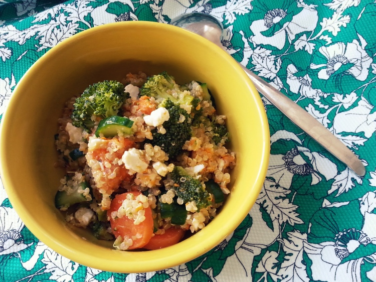 quinoa with veggies