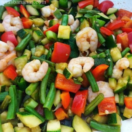 Shrimp and Veggie stir fry 2