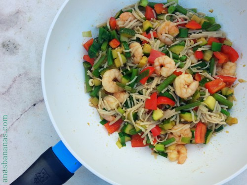 Shrimp and Veggie stir fry 3